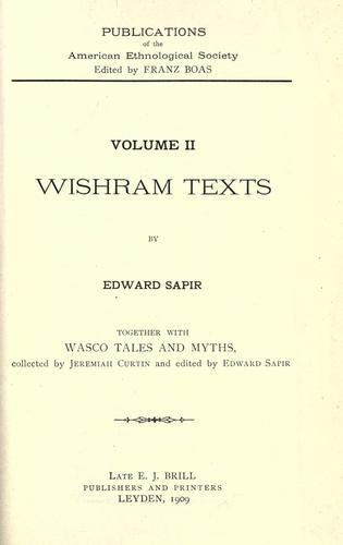 Download Wishram texts