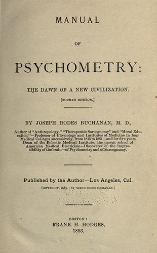 Download Manual of psychometry