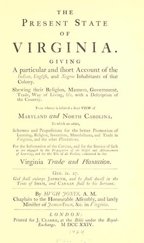 Download The present state of Virginia