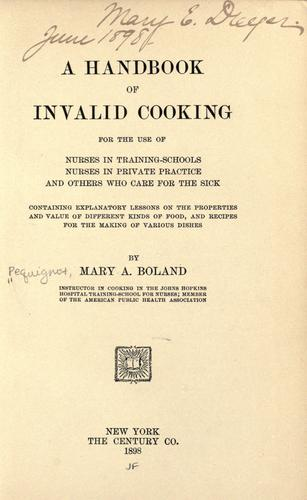 Download A handbook of invalid cooking