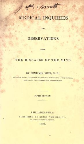 Download Medical inquiries and observations upon the diseases of the mind