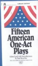 FIFTEEN AMERICAN ONE-ACT PLAYS
