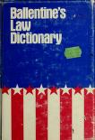 Cover of: Ballentine's law dictionary, with pronunciations by James A. Ballentine