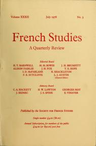 Cover of: French studies | Society for French Studies (Great Britain)