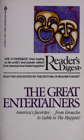 Cover of: Great Entertainers | Reader's Digest