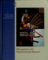 Cover of: Management and organizational behavior | Robert E. Coffey