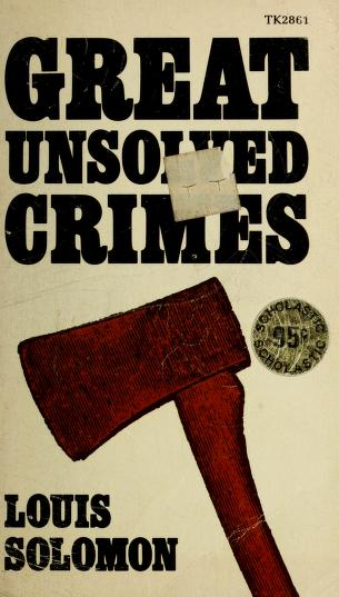 Cover of: The Ma & Pa murders and other perfect crimes | Solomon, Louis