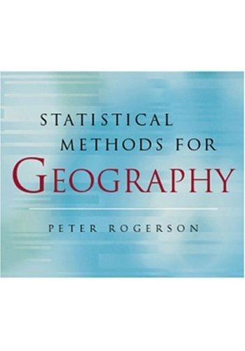 Statistical methods for geography by Peter Rogerson