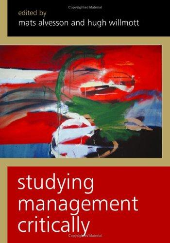 Studying management critically by