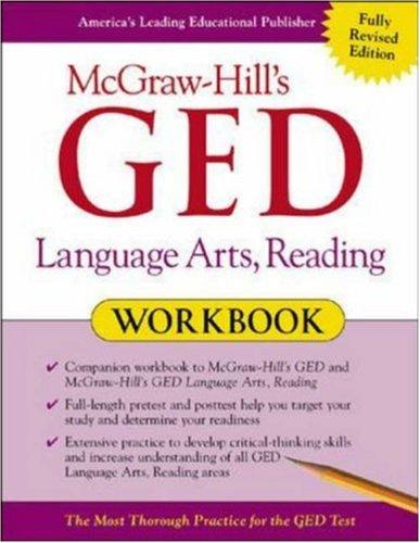 McGraw-Hill's GED Language Arts, Reading Workbook by John Reier