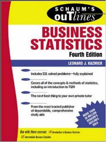 Schaum's outline of theory and problems of business statistics