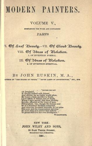 [Miscellaneous articles and lectures] by John Ruskin