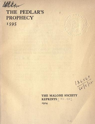 The pedler's prophecy by
