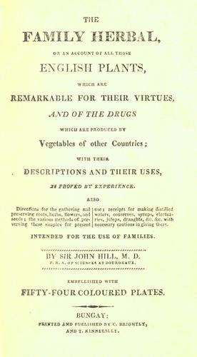 The family herbal by John Hill