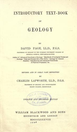 Introductory text-book of geology.