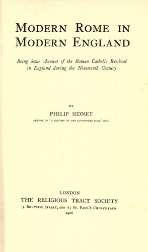 Modern Rome in modern England by Philip Sidney