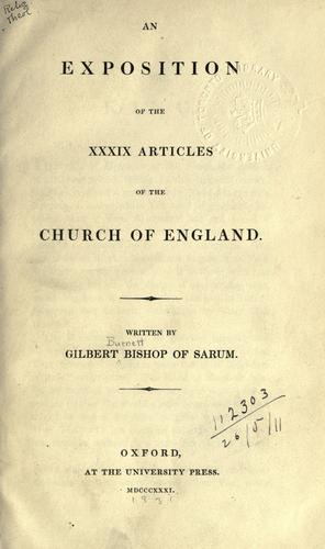 An exposition of the XXXIX Articles of the Church of England.