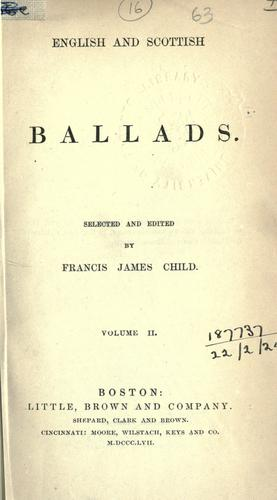 English and Scottish ballads by Francis James Child