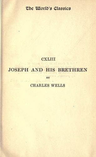 Joseph and his brethren by Wells, Charles