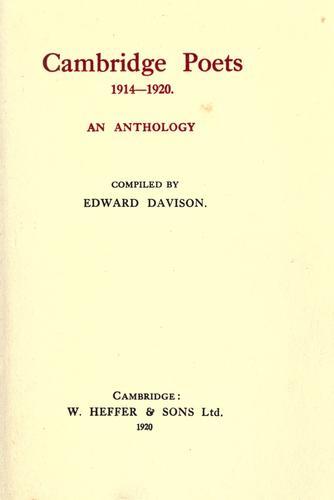 Cambridge poets 1914-1920.