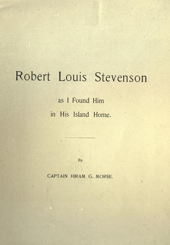 Robert Louis Stevension as I found him in his island home by