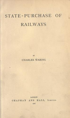 State-purchase of railways by Charles Waring