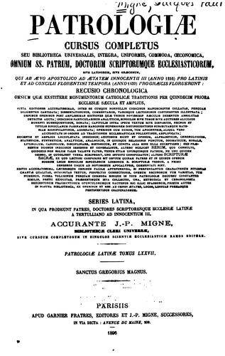 Patrologiae cursus completus by Adalbert Hamman , Laurent Bailly, Jean -Paul Bouhot, Migne, J .-P. (Jacques-Paul ), 1800-1875