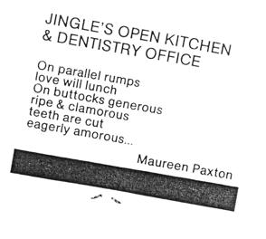 Jingle's Open Kitchen & Dentistry Office by Maureen Paxton