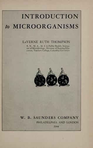 Introduction to microorganisms by La Verne Ruth Thompson