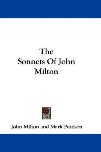 The Sonnets Of John Milton