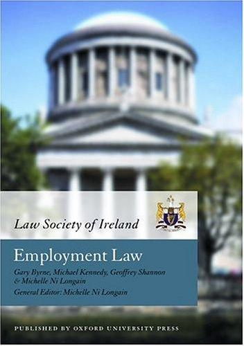 Employment Law (Law Society of Ireland Manual) by Law Society of Ireland