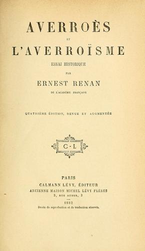 Averroès et laverroïsme