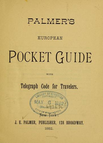 Palmer's European pocket guide by