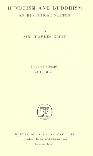 Hinduism and Buddhism by Sir Charles Eliot