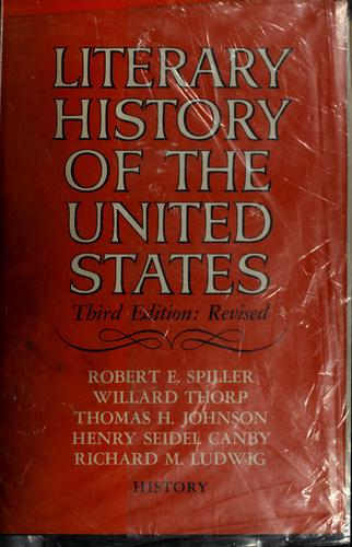 Literary history of the United States by Robert Ernest Spiller