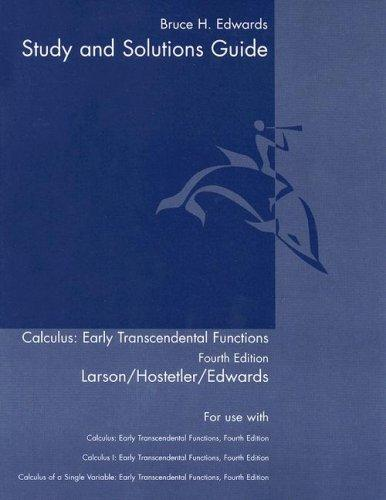Calculus, Early Transcendental Functions by Ron Larson