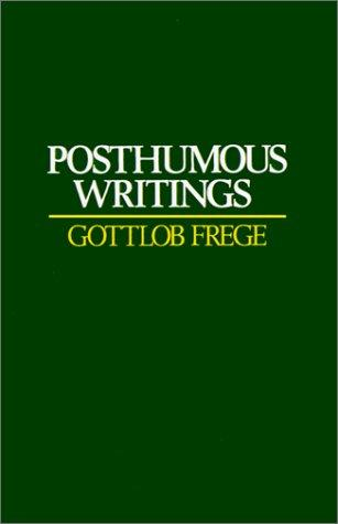 Posthumous writings by Gottlob Frege