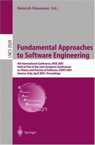 Fundamental Approaches to Software Engineering by Heinrich Hussmann