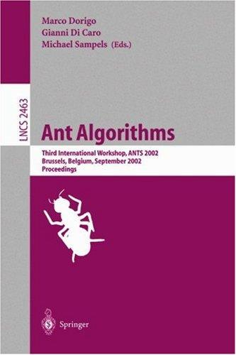 Ant algorithms by