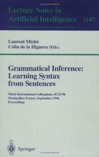 Grammatical inference by International Colloquium on Grammatical Inference (6th 2002 Amsterdam, Netherlands)