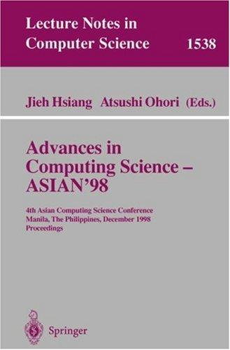 Advances in computing science, ASIAN '98 by