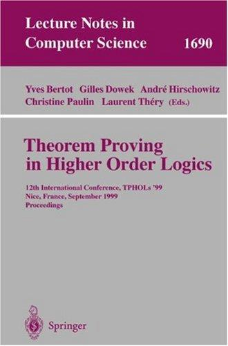 Theorem Proving in Higher Order Logics by