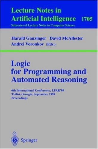 Logic for programming and automated reasoning by