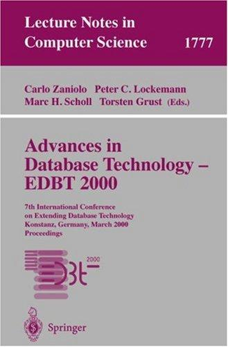 Advances in database technology--EDBT 2000 by