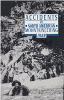 Accidents in North American Mountaineering 1989 by John E. Williamson