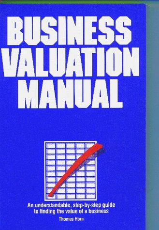 Business valuation manual