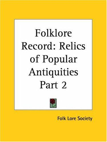 Folklore Record by Folk Lore Society