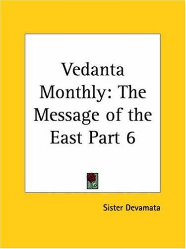 Vedanta Monthly by Sister Devamata