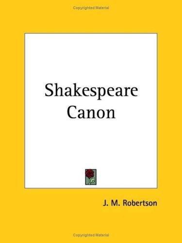 Shakespeare Canon