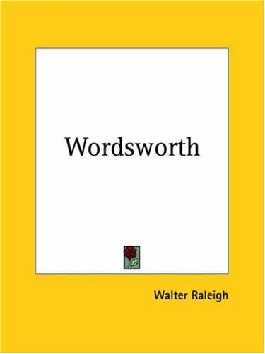 Wordsworth by Walter Raleigh